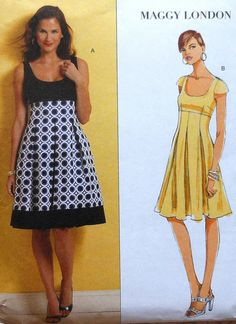 Maggy London Kleid nähen Muster UNCUT Butterick von latenightcoffee