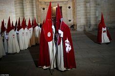 The ceremony known as Cristo de las Injurias, or the Silent Procession, in Zamora, Spain sees its 2,300 members swear to keep silent in the city's cathedral