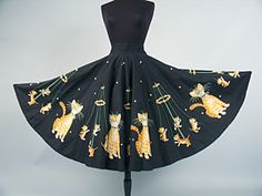 Cats & Kittens Circle Skirt, Mid 1950s - @Karen Martin I think you and I would both wear this ... but I can't imagine why ;)