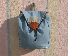 The mouse backpack  light blue mouse bag by MariasHappyThoughts