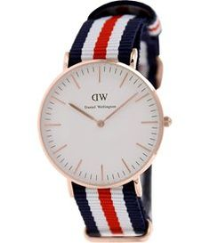 Daniel Wellington Women's Canterberry 0502DW Blue Nylon Quartz Watch