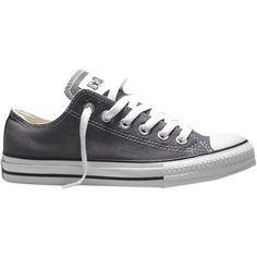 Converse Chuck Taylor All Star Canvas Ox Low-Top Trainers , Charcoal