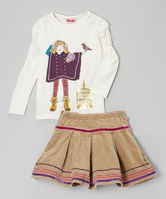 Take a look at this Vanilla Ice Diva Bam Top & Dice Bam Skirt - Toddler & Girls by Me Too on #zulily today!