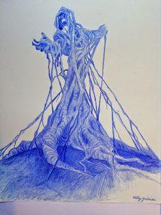 "Kathy Zielinski Hexxus Concept design for ""Ferngully the last Rainforest"""
