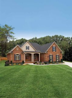 Eplans Country House Plan - A Balanced Approach - 2021 Square Feet and 3 Bedrooms from Eplans - House Plan Code HWEPL12318