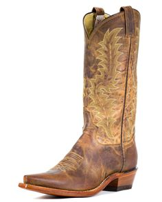 Tony Lama Men's Tan Saigets Worn Goat Boot