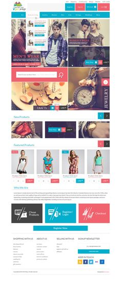 PSD template for gift shop. Designed by Web Blog solutions this is a Modern Modular Gift Shop E-Commerce Website PSD Design. With a great and dynamic layout this layout will suit any design style or execution for your next web project!