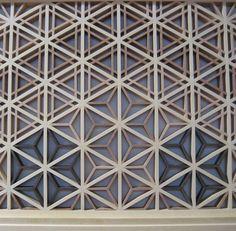 Detail of the asa-no-ha (麻の葉) and sesame (胡麻殻) patterns #shoji and #kumiko