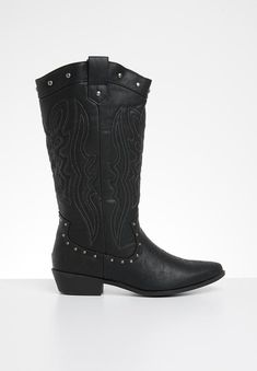 Dylan boot - black Madison® Boots | Superbalist.com Bota Country, Knee High Boots, Black Boots, Cowboy Boots, Two By Two, Footwear, Socks, Zip, Heels
