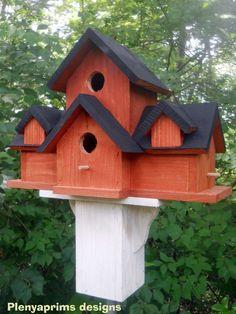 Birdhouse 4 nest bird house. Folk art primitives cabin in the woods bird house | Home & Garden, Yard, Garden & Outdoor Living, Bird & Wildlife Accessories | eBay!
