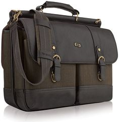 Solo Brown Briefcase/attache Men 100 Auth Bag Padded Laptop Bradford for sale online Best Luggage, Travel Luggage, Laptop Briefcase, Laptop Bag, Bradford, Yorkie, Espresso, Messenger Bag, Cool Things To Buy