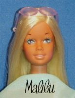 Sunset Malibu Barbie  1971-1977 by Mattel.  Sunset Malibu is my absolute favorite Barbie! She is in my collection...NIB 1971 and 1 vintage Sunset to play with , also a repro Sunset Malibu NIB and 1 repro to play with!