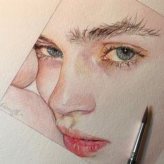 ・ ・ ✏️my drawing✏️ ・ ・ ・ ・ ・ ・ ・model @cajsawessberg ・ ・ ・ ・ ・ #watercolor #水彩 #art #artwork #myart #aquarela #draw #drawing #drawings…