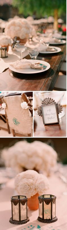 Love the chair decor and metal frames at this Mexican-themed-rehearsal-dinner