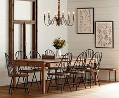 Love Fixer Upper and wish Joanna Gaines would decorate your home? Well now with her new furniture line Magnolia Home you can get her look in your own home. Dining Room Furniture, New Furniture, Dining Room Table, Furniture Ideas, Luxury Furniture, Furniture Makeover, Dining Table With Drawers, Furniture Design, Dinning Chairs