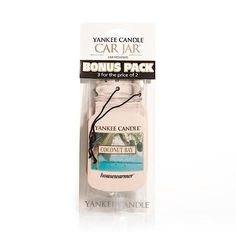 Yankee Candle Coconut Bay Scented Paper Hanging Air Freshener 3 Pack Advance Auto Parts Fragrance Online, Air Freshener, Coconut, Packing, Jar, Candles, Bag Packaging, Candy, Candle Sticks