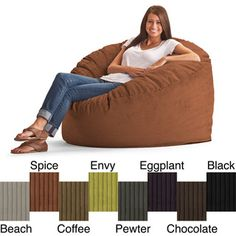 @Overstock.com - FufSack Wide Wale Corduroy 4-foot Large Bean Bag Chair - Add fun and comfortable seating to your game room or man cave with this large bean bag chair from FufSack. Available in a variety of colors, this long-lasting bean chair is filled with polystyrene beans with a wide wale corduroy cover.  http://www.overstock.com/Home-Garden/FufSack-Wide-Wale-Corduroy-4-foot-Large-Bean-Bag-Chair/8163308/product.html?CID=214117 $145.99