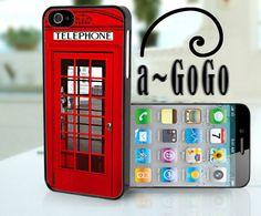 iPhone 5 case, London Phone Box Design, custom cell phone case. $18.00, via Etsy.