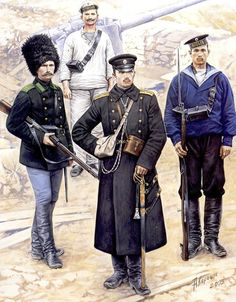 Russian Naval and Frontier Troops, Russo-Japanese War Private , 21st Company, Frontier