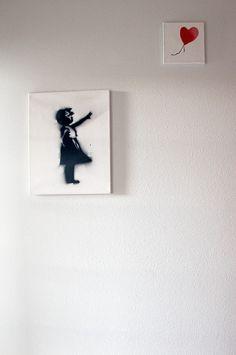Copying a Banksy - Graffiti Art