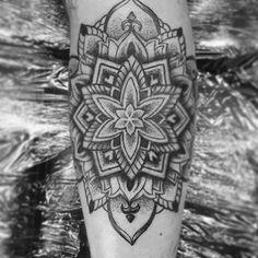 """Mandala from today, thanks @alfie_livens  #tattoo #dotwork #dotstolines #dotworktattoo #mandala #mandalatattoo #blackwork #blackworkers #mandalatattoo  #topmandalaart"" Photo taken by @chrissimsart on Instagram, pinned via the InstaPin iOS App! http://www.instapinapp.com (08/29/2015)"