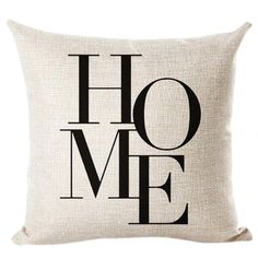 Letter Love Home Cushion covers Cotton linen Black White pillow cover Sofa bed Nordic decorative pillow case almofadas Black And White Cushions, White Pillows, Cushions On Sofa, Black White, Sofa Bed, Car Sofa, Car Bed, Decorative Pillow Cases, Colors