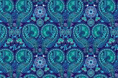 Blue Ornamental Seamless Pattern by Sunny_Lion on Creative Market