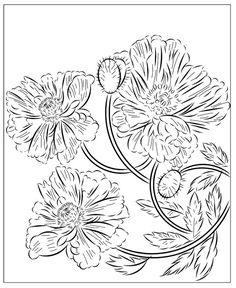 Nicole's Free Coloring Pages: March 2020 Poppy Coloring Page, Flower Coloring Pages, Free Coloring Pages, Winter Princess, Mysterious Girl, Modern Princess, Baby Goats, Yellow Leaves, Santa Letter
