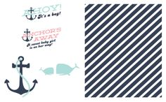 Nautical Inspired Whale Baby Shower Invitation: FREE Downloads