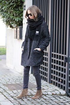 Acne Studios Canada Scarf and Isabel Marant Etoile Dicker Boots