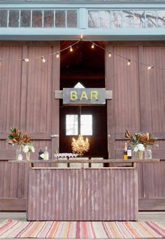 vintage and custom wedding furniture, decor and lighting rental from rEvolve | via junebugweddings.com