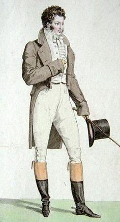 Culotte de Peau (leather breeches), Costume Parisien (1813) info by Daniel James Cole