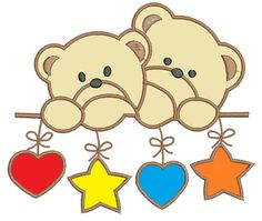Items similar to teddy bear in the crib, applique - Machine Embroidery Design - tested on Etsy Janome Embroidery Machine, Free Machine Embroidery Designs, Applique Patterns, Baby Boy Dress, Baby Scrapbook, Digi Stamps, Baby Sewing, Baby Quilts, Crafts