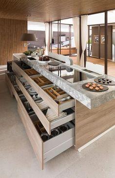 kitchen island with storage