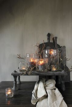 Candles, Table Decorations, Interior, Flowers, Furniture, Home Decor, Homes, Dekoration, Decoration Home