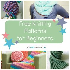 Check out this page of free knitting patterns for beginners, just updated with two never-before-seen beginning knitting projects!