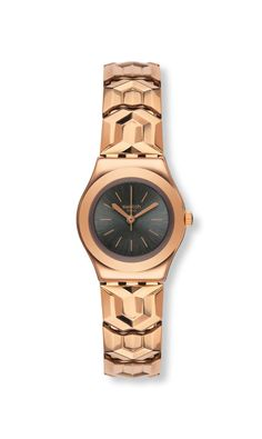 07c3714f066 awesome Swatch Ladies Alacarla Rose Gold Plated Bracelet Watch just added.
