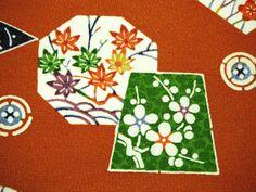 RARE Bingata Vintage Japanese Tango chirimen silk by CosimaOrimono
