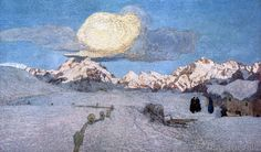 Giovanni Segantini - Segantini / Death (Tryptich) / 1896-99