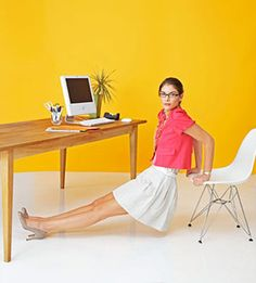 Don't have time to work out after work? Workout AT work! 10 easy ways to sneak in a workout