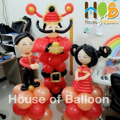Chinese New Year 2015 Balloon Art Chinese Theme Parties, House Of Balloons, Ballon Animals, Balloon Frame, Asian Party, Chinese New Year, Balloon Decorations, Party Themes, Oriental