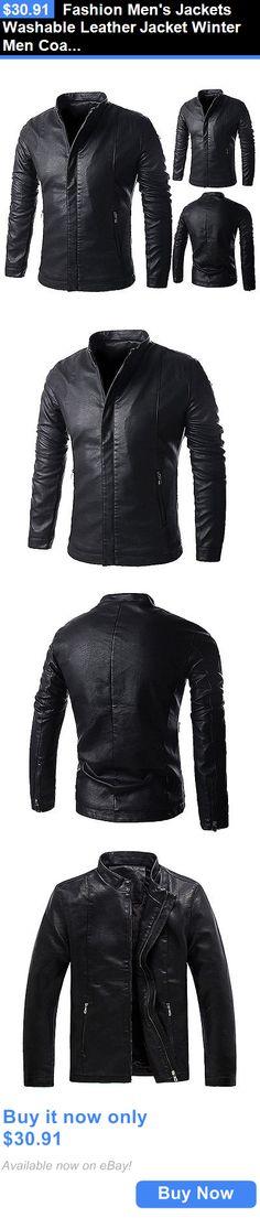 5ea7a938 Men Coats And Jackets: Fashion Mens Jackets Washable Leather Jacket Winter  Men Coats Casual Outerwear
