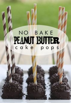 No Bake Peanut Butter Cake Pops recipe - these are delicious and if you love chocolate and peanut butter desserts, look no further! if you love chocolate and peanut butter, you'll go crazy for these peanut butter cake pops. Peanut Butter Cake Pop Recipe, Peanut Butter Desserts, Butter Recipe, Yummy Treats, Delicious Desserts, Sweet Treats, Dessert Recipes, Cake Recipes, Top Recipes