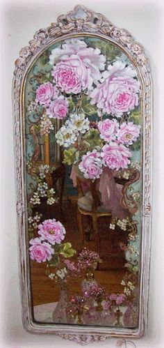 Rose mirror, I have the mirror, and collecting roses from mag.  Maybe soon.  Roses don't do well in my shady yard, but...