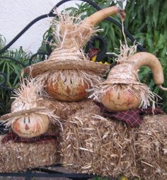 Orvill The Scarecrow Gourd by PoppyGoRound on Etsy Halloween Gourds, Fall Halloween, Halloween Crafts, Halloween Decorations, Decorative Gourds, Hand Painted Gourds, Reborn Dolls, Reborn Babies, Baby Dolls
