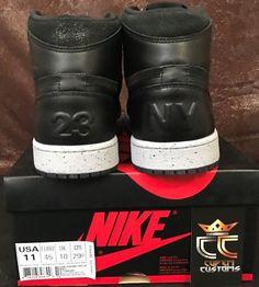 8ff3f44d888cae Nike Air Jordan Retro 1 High 23ny NYC Flight 23 PSNY Black Sz 11 for sale  online