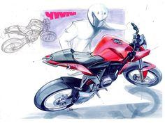 motorcycle design sketch by Pawan sharma