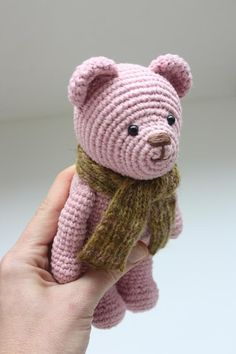 PATTERN Amigurumi Crochet Teddy Bear Pdf Tutorial by TinyAmigurumi