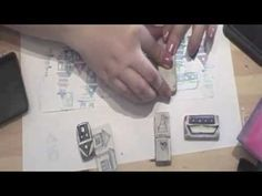 diy rubber stamps - hand carved