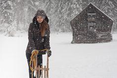 Im Schnee mit Loden. Snow